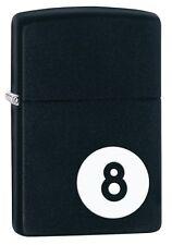 Zippo 28432, 8 Ball, Billiards, Black Matte Finish Lighter, Full Size