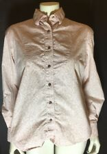 Roughrider Western Shirt By Circle T PASTEL pink Pearlized Brown Buttons SZ M?