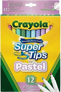 Crayola Supertips Felt Tip Pens - Washable Markers - Pack of 12, 24 or 50