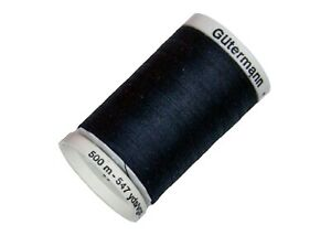 Gutermann Thread - Sew All Polyester Thread 547 Yards Black (10)