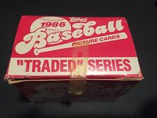 1986 Topps Traded Baseball Card Set series Picture original box.
