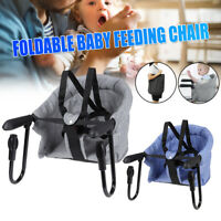 Safe Infant Baby High Chair Kid Padded Foldable Lightweight Portable Highchair