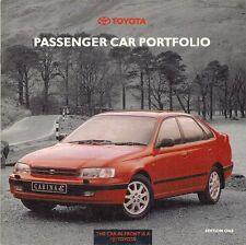 Toyota 1992 Ed1 UK Brochure Starlet Corolla MR2 Carina Celica Camry Supra Previa