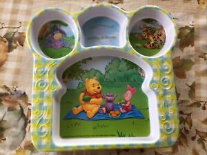 Winnie the Pooh Children's Plastic Plate with Divided Sections 129