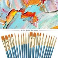 50Pcs Artist Paint Brushes Kit Set Watercolour Acrylic Oil Face Painting Brush