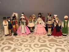 Antique International Wooden Clothespin Doll Lot Circa 1920s 1930s