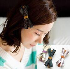 1pc Korea Style Popular Cute Polka Dots Beautiful Hair Clip Accessory Girls NEW