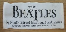 The Beatles - Original 1966 Nems Ltd. Clothing Label Tag Los Angeles USA