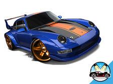 Hot Wheels Cars - Porsche 993 GT2 Blue