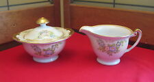 NSP China Made in Japan Hand Painted Meito Creamer & Sugar Bowl MEI357