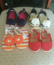 Lot of 4 pairs Newborn Girl Shoes 6-12 months New