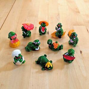 Kinder Surprise Egg Toys Full Set of Tiny Terrapin Turtles 1991-98 Rare Ferrero