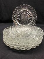 """Lot Of 6 Anchor Hocking Glass Co. WATERFORD """"Waffle"""" Clear Glass Salad Plate"""