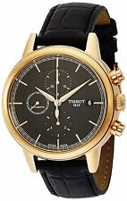 Tissot Carson Automatic Anthracite Dial Black Leather Mens Watch T0854273606100