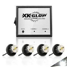 4pc 4watt High Power LED Strobe Light Kit-12V 20 Modes