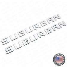 2x For Chevy Suburban Door Liftgate Logo Nameplates Letter 3D Badge Emblem LTZ