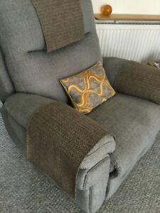 Chair Arm Back Cover Antimacassar Sofa Armchair Protect DARK BEIGE BLEND