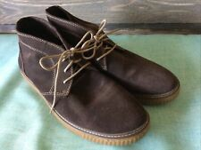 J&M Johnston Murphy Mens Ankle Boots Chukka Brown Suede Lace Up Casual Size 13M