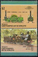 1847 LNWR Cornwall 2-2-2 London & North Western Train Stamps / LOCO 100