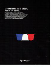 Publicité Advertising 011  2016  les dosettes café Nespresso à recycler