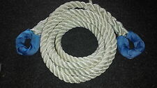NYLON KINETIC 12 TONNE RECOVERY  TOW ROPE 4 x 4 -  4 METRE X 24MM FREE DELIVERY