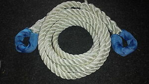 NYLON KINETIC 12 TONNE RECOVERY  TOW ROPE 4 x 4 -  6 METRE X 24MM FREE DELIVERY