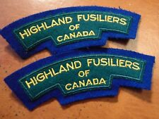 CANADA Canadian Armed Forces HIGHLAND FUSILIERS shoulder titles badges B