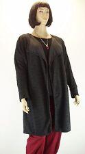 Mantel Cardigan Big Size schwarz grau Patchwork Taschen Lagenlook Gr.46-54 NEU