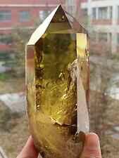 860g Natural Huge Citrine Quartz Crystal Polished Point Healing DHJ50