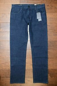 Armani Exchange A|X Men's Relaxed Straight Fit Stretch Cotton Navy Jeans 38R