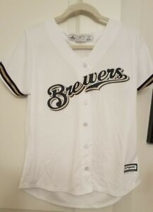 Milwaukee Brewers Majestic Home Cool Base Jersey Women's Large New