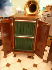 More details for gramophone record cabinet in mahogany holds 100 10