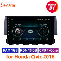 "car Radio 9"" Android 8.1 HD Touchscreen GPS Navi bluetooth for Honda Civic 2016"