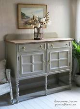 Pretty Painted Oak Vintage Shabby Chic Sideboard Cupboard Dresser Farrow & Ball