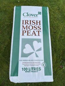 Clover Irish Moss Peat 100L Soil Improver Conditioner 100% Natural