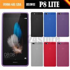 Funda gel lisa Huawei P8 LITE + protector cristal + lapiz + memoria opcional