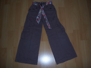 Pantalon toile marron taupe fille 5 ans