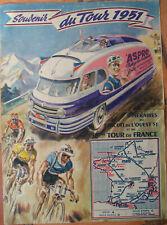 SOUVENIR DU TOUR DE FRANCE 1951 . ASPRO . GEO HAM . FORMAT : 23,5 X 31,8 CM .