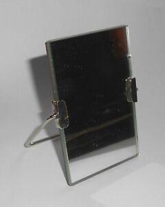DDR Rasierspiegel Stellspiegel 6x9 cm Stehspiegel VEB Vintage NOS unbenutzt