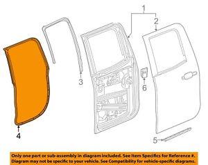 NEW OEM GM Weatherstrip Double Cab Rear RH Door 23125456 Silverado Sierra 14-18