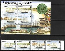 GB - JERSEY Sc 596-99+599A NH SET+S/S OF 1992 - SHIPS