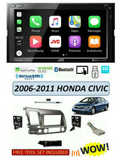 Fits 2006-2011 HONDA CIVIC Stereo Kit, JVC KW-M75BT Apple CarPlay Android Auto