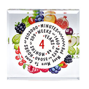 4 years Anniversary Gift ,Traditional Gift (Fruit) Keepsake Print Acrylic