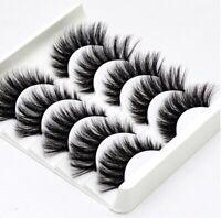5 Pairs 3D Mink Soft Long Natural Thick Makeup Eye Lashes False Eyelashes