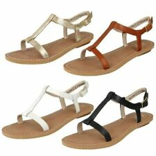 Leather Buckle Casual Sandals & Flip Flops for Women