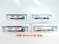 BX328-0,5# 4x Wiking 1:87/H0 LKW MB: 510 01 Alpentrailer + 544 50 Porta NEUW+OVP