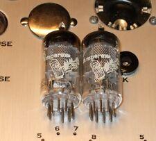 2 tubes 6267 EF86 mesh plate Bugle Boy France Amperex a matched pair 8Y5 F2C4
