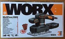 Worx WX641 ELECTRIC 1/3 fogli Sander finitura POWER TOOL PLUS Sabbia Papers Nuovo
