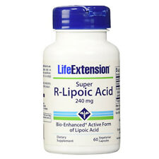 Super R-Lipoic Acid 240mg Bio-Enhanced Active Lipoic Acid 60 Caps Life Extension