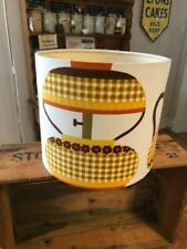 Vintage Style Colourful Light Shade / Lamp Shade – Yellow Patterns / Flowers